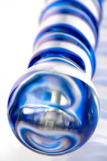 Двусторонний фаллоимитатор Sexus Glass, стекло, прозрачный, 19 см