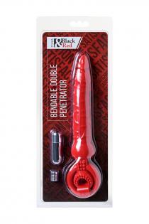 Насадка на пенис Black & Red by TOYFA с вибрацией, силикон, красный, 24 см