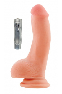 Реалистичный вибратор на присоске TOYFA RealStick Elite, TPR, телесный, 7 режимов вибрации, 19 см