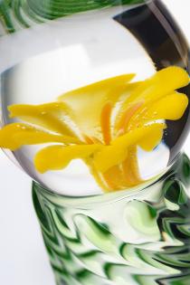 Нереалистичный фаллоимитатор Sexus Glass, стекло, прозрачный, 16,5 см
