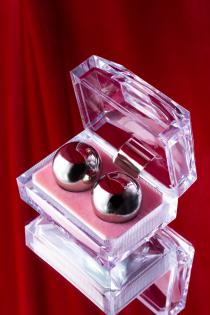 Вагинальные шарики Metal by TOYFA, металл, серебристый, Ø 2,5 см