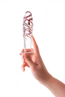 Анальная втулка Sexus Glass, стекло, прозрачная, 15,5 см, Ø 3,5 см