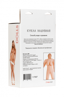 Кукла надувная Isabella, толстушка, TOYFA Dolls-X, с двумя отверстиями, блондинка, 160 см