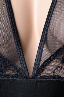 Комбинация Candy Girl с открытой спиной и стринги , чёрные, OS