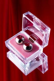 Вагинальные шарики Metal by TOYFA, металл, серебристые, Ø 2 см