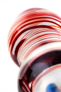 Двусторонний фаллоимитатор Sexus Glass, стекло, прозрачный, 20 см