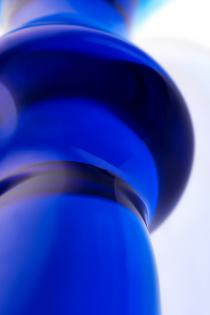 Анальная втулка Sexus Glass, стекло, синяя, 13,5 см, Ø 4,5 см
