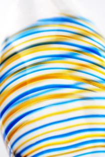 Двусторонний фаллоимитатор Sexus Glass, стекло, прозрачный, 22 см
