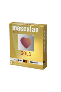 Презервативы Masculan 5 Ultra , 3шт Золотого цвета ШТ