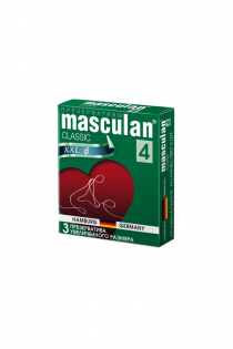 Презервативы Masculan Classic 4,  3 шт.  Увеличенного размера (XXL) розового цвета ШТ