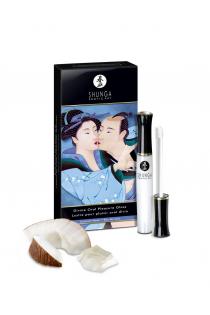 Блеск для губ Shunga «Божественное удовольствие», эффект тепла, прохлады и покалывания, кокосовая вода, 10 мл