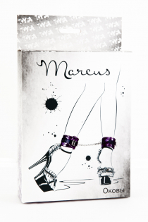 Кружевные поножи TOYFA Marcus, пурпурный, 46 см.