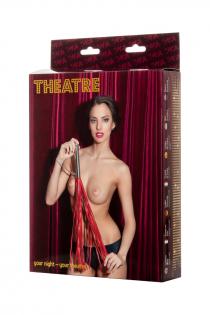 Плеть TOYFA Theatre кожаная красная ,70 см