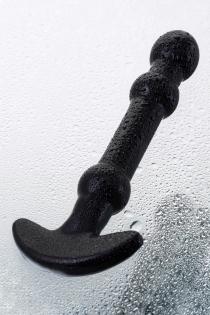 Нереалистичный фаллоимитатор Sexus Glass, стекло, чёрный, 19 см