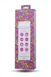 Вибратор TOYFA Dolce Leo, силикон, розовый, 16,5см