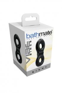 Виброкольцо на пенис Bathmate Eight, elastomex, чёрное, Ø4-5 см
