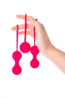 Вагинальные шарики A-Toys by TOYFA , силикон, розовые, Ø 3,2 см