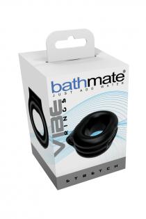 Виброкольцо на пенис Bathmate Stretch, elastomex, чёрный, Ø5 см