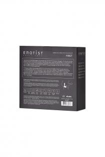 Стимулятор простаты Erotist First, силикон, чёрный, 14,4 см