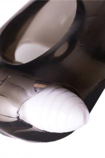 Насадка ToyFa XLover, для увеличения размера с вибрацией,TPE, черная прозрачная, 15,5 см