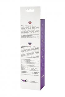 Нереалистичный вибратор TOYFA A-Toys, Силикон, Фиолетовый, 18 см
