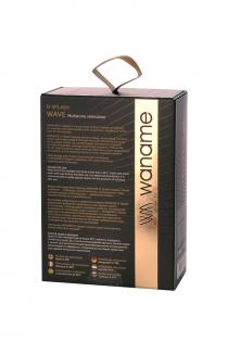 Вибромассажер WANAME D-SPLASH  Wave Силикон Чёрный, 9,3 см.