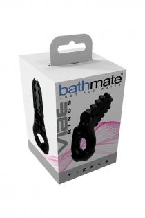 Виброкольцо на пенис Bathmate Tickle, elastomex, чёрный, Ø5 см