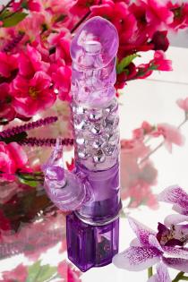 Вибратор с клиторальным стимулятором TOYFA A-Toys  High-Tech fantasy , TPE, Фиолетовый, 26,5 см