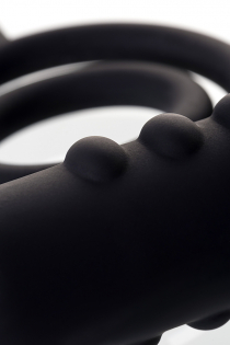 Анальная пробка с дополнительной стимуляцией Erotist, силикон, черная