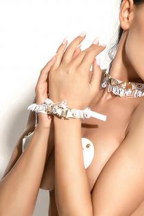 Манжеты Me Seduce Queen of hearts Arabesque, белые, OS