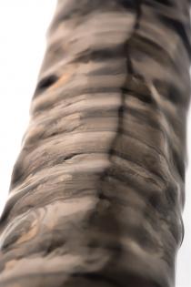 Насадка Toyfa XLover, для увеличения размера, TPE, черная прозрачная, 22.5 см