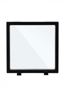 Рамка для выкладки прозрачная с черным кантом под подставку 18*18