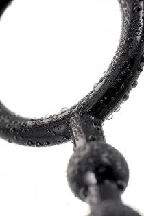Анальная цепочка Toyfa A-toys  M ,TPE, черный, 28,3см
