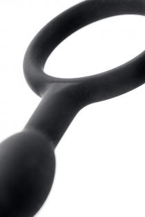 Анальная цепочка Toyfa A-toys М, силикон, черный, 27,6см