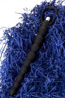 Анальная цепочка Toyfa A-toys с вибрацией, силикон, черный, 32,7см