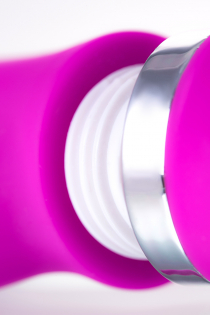 Вибратор с клиторальным стимулятором JOS JOLY, с WOW-режимом, силикон, фуксия, 19,6 см
