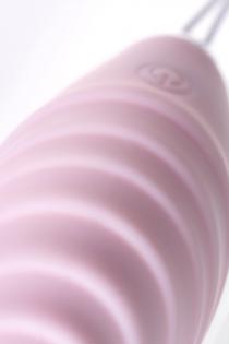 Виброяйцо и вибронасадка на палец JOS VITA, силикон, пудровые, 8,5 и 8 см