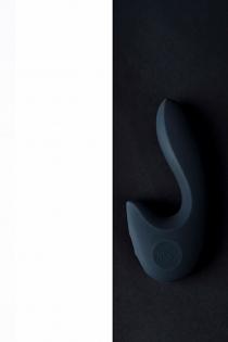 Нереалистичный вибратор Sense Max  , Силикон, Чёрный,16 см