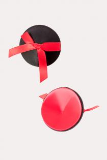 Пэстис Erolanta Lingerie Collection круглые с бантиками черно-красные
