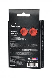 Пэстис Erolanta Lingerie Collection круглые с пухом красные