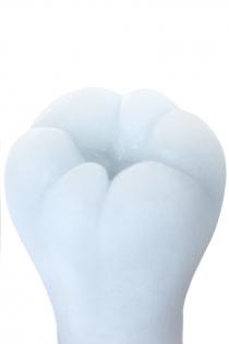 Мастурбатор нереалистичный, ORB Warmmer, MensMax, TPE, белый, 15 см