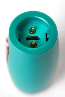 Нереалистичный вибратор Le Stelle PERKS SERIES EX-4, Силикон, Бирюзовый, 16,5 см