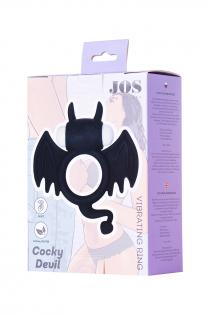 Эрекционное кольцо на пенис JOS COCKY DEVIL, силикон, чёрный, 8,5 см