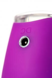 Клиторальный стимулятор с ресничками JOS ALICIA, силикон, фиолетовый, 15,5 см