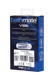 Вибропуля Bathmate Vibe Bullet Black, перезаряжаемая, водонепронецаемая, пластик, 10 режимов вибрации, чёрная, 7,8 см