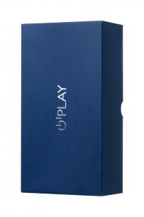 Анальная вибровтулка O'Play Unico с пультом ДУ, силикон, синий, 13,5 см.