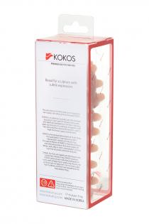 Насадка KOKOS  с дополнительной стимуляцией, реалистичная,TPR, телесный, 12.7 см