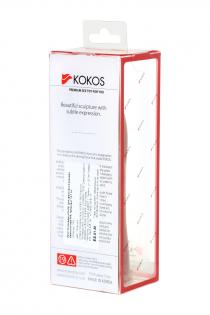 Насадка KOKOS с имитацией пирсинга, реалистичная,TPR, телесный,  12.7 см