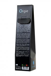 Комплект для сладких игр Orgie Lips Massage со вкусом сахарной ваты (массажное масло для поцелуев, перо и руководство), 100 мл