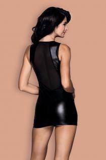 Платье wetlook и стринги Candy Girl Jillian черные, OS
